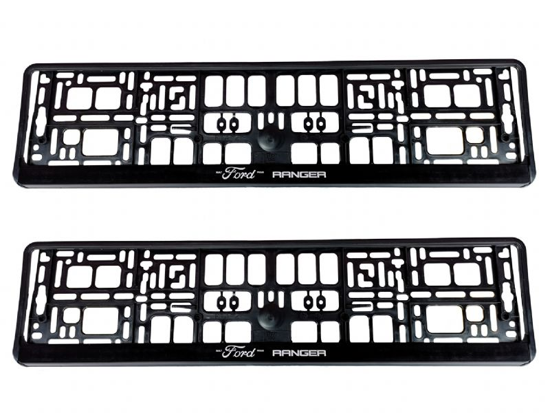 2 x Ford Ranger Number Plate Holder Surround Mounting